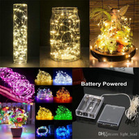 1M 2M 3M 5M 10M LED String Lights Funzionamento a batteria LED Filo di rame Decorazione Fata stellata Luce Holiday Wedding Light