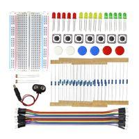 Startpaket UNO R3 Mini Breadboard LED Jumper Wire Button för Arduino DIY Kit