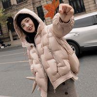 Женские пушистые Parkas Fitaylor Зимние короткие пальто Женщины с капюшоном белая утка куртка женский повседневная водонепроницаемая молния верхняя одежда одежда