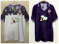 Retro Klasik 1992 1993 Fiorentina Floransa Batistuta Futbol Formaları Sınırlı Sürümü 92/93 Eve Uzakta Retro Futbol Gömlek S-2XL