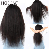 Afro kinky Straight Lace Part Wig 13*1 Brazilian Remy Human ...