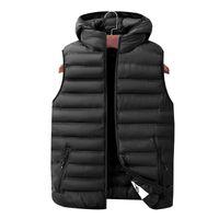Erkek yelekleri Erkek Kış Kolsuz Ceketler Moda Rahat Kalın Erkekler Hoodie Mont Erkek Sıcak Yelek Artı Boyutu L-7XL