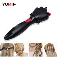 Di alta qualità dispositivo a maglia automatica strumenti per lo styling dei capelli intrecciatore fai da te elettrico a due fili twist intrecciatrice creatore per capelli macchina intrecciatrice SH190727