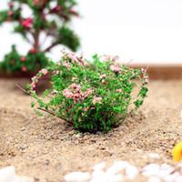 بالجملة، مصغرة الاصطناعي بوش زهرة الجنية الحديقة منازل الديكور البسيطة كرافت مايكرو المناظر الطبيعية ديكور اكسسوارات DIY