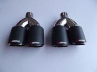 الكلاسيكية المزدوجة Inlet51mm-outlet89mm لAK ألياف الكربون العادم طرف ماسورة العادم كاتم الصوت