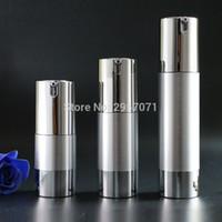 Gold, Silber, Leer Airless Pumpe Flaschen Tragbare Mini-Vakuum-kosmetische Lotion Behandlung Reise Flasche 10pcs für freies Verschiffen