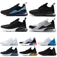 Nike air max 270 de deporte Diseñador Hot Punch THROWBACK FUTURE Triple White Be True CNY BARELY ROSE Mujeres Zapatillas clásicas Zapatillas de deporte para hombre