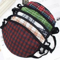 Cotton Plaid Striped Face Mask Thicken Warm Dust- proof Masks...