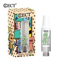 sigaretta elettronica ECT Alien cartuccia olio denso atomizzatore 0,5 / 1,0 ml punta gocciolamento serbatoio cartucce penna vape per 510 filo vaporizzatore
