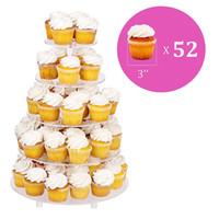 Большой 5-Tier Акриловая Круглый свадебный торт Стенд / Cupcake Stand Tower / Десерт ПОВ / Кондитерские изделия Обслуживание Тарелка / Food Display Stand (5RF)