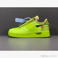Nike Air Force 1 Low Off Volt 2020 New Hot Forces 1 Low Weiß Laufschuhe Volt Hyper Jade Kegel Schwarz Designer-Schuhe AO4606-700 36-45 mit dem Kasten