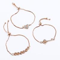 pulseras de joyería clave corazón pulseras conjuntos encanto caja de la cadena para la mujer caliente de la manera libre del envío