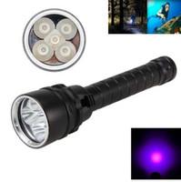VASTFIRE Impermeable Buceo Flashligh 18650 5X UV Flash Light LED Linterna Torche Submarino 100m 365nm-395nm
