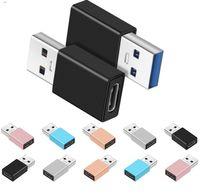 Typ C Kvinna till USB 3.0 Male Gold Plated Cables Connector Converter Adapter för smartphone