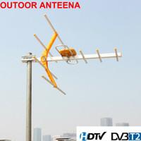 HDTV 1080p Открытых Усиленная цифровая антенна UHF VHF FM Long Range HD TV 15дБ 100Miles ТВ антенна