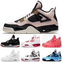 2020 Mens Womens 4S Basketball Shoescolors 4 CLASSICAL Casual Sneakers Shoes Leather Solid Colors Dress Shoe Without Box