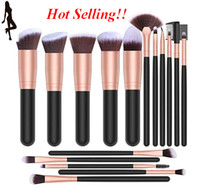 16Pcs Royal Golden Makeup Brushes Set de pinceles de maquillaje profesional Eye Shadows Makeup Brush Set, Rose Golden bea160