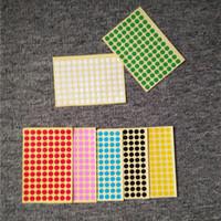 Multi taglie Piccole etichette colorate rotonde colorate Adesivi Adesivi Blank Dot Carta adesivo adesivo Adesivo Prodotti Classificare la marcatura dell'etichetta