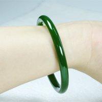 Jade naturale Jasper Braccialetto Fine Braccialetto Giovane ragazza Spinaci Verde Giada Bracciale Bracciale
