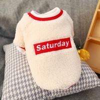Волосатая одежда для собак осень и зима согреться много размер свитер письмо пуловер круглый воротник 14pe UU
