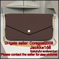 free shipping wholesale M61276 POCHETTE FELICIE BROWN WALLET...