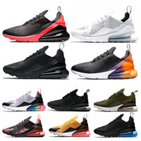 Hot Men Women Running Shoes Triple White Black Gradient Bred...