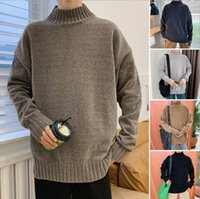 Winter extra thick Long Sleeve sweater mens warm sweater pul...