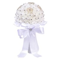 Bride Wedding Bouquet, Crystal Roses Bridesmaid Wedding Bouq...