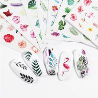 Blumen-Reihe Nagel-Wasser-Abziehbild-Nagel-Aufkleber Floral Sakura Rose Blatt Übertragung Slider-Folien-Nagel-Dekoration