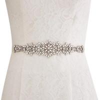 Nuove cinture da sposa su misura Cintura in raso con strass Perline Accessori da sposa Cintura da sposa con fascia per abiti da ballo da cerimonia CPA1688