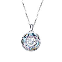 82576d9e263c51 Cdyle Dancing Stone Necklace Women Pendants Crystals from Swarovski Charms  S925 Sterling Silver Jewelry Fashion Green Purple New Year Gift