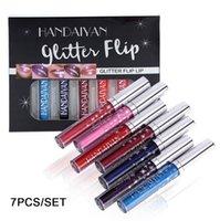 HANDAIYAN 7 색이 아닌 스틱 컵 플래시 립글로스 반짝 립글로스 액체 립스틱 선물 상자 12 스틱