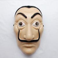라 카사 드 Papel 전체 얼굴 마스크 플라스틱 살바도르 달리 의상 영화 마스크 현실적인 할로윈