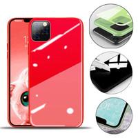 iPhone 11 Apple temperli cam Arka Kapak Moda Protector Lüks sıvı silikon PC Telefon Kılıfları yanlısı Max X 7 8 6S