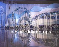 Nuovo stile hangging cristallo centrotavola fiore stand basamento strada porta piombo colonna quadrata per la decorazione di nozze best0495