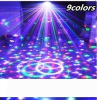 9 colori 27W di cristallo Magic Ball ha condotto la lampada della fase della 21Modes partito della discoteca della luce laser Luci Sound Control proiettore laser di Natale