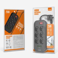 LDNIO EU 플러그 스마트 전기 소켓 확장 전원 탭 3.4A 6 콘센트 4 USB 충전기 어댑터 서지 보호 스위치 홈
