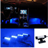 Ricambi Auto 4 1 pollici Suole Ambient Light Car LED luce d'atmosfera interni luci decorative luci interne del piede auto styling Lampada