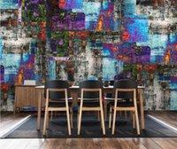 Personalità Wallpaper murale CJSIR personalizzato 3d Abstract Graffiti olio di colore Pittura Hotel Cafe Tooling sfondo della decorazione della parete di carta