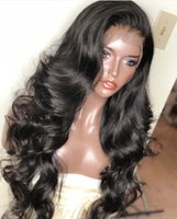 흑인 여성을위한 전체 레이스 인간의 머리 가발 브라질 전체 레이스 가발 실크 탑 물결 모양의 멍청한 레이스 프런트 인간의 머리 가발
