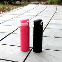الأكثر مبيعا كأس الإبداعية 304 الفولاذ المقاوم للصدأ كذاب كأس غطاء الترمس 500ML طالب المحمولة الحرارية زجاجات المياه العزل DH0766 T03