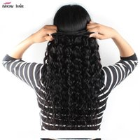B Ishow Hair Brazilian Water Wave Human Hair Bundles Wholesale Cheap 8a Hair Bundles 4bundles With 13x4 Ear To Ear Lace Frontal Closure