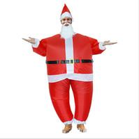 5 шт Рождество Надувной костюм Санта-Клауса костюм Смешные Рождество Xmas Костюмированный Outfit