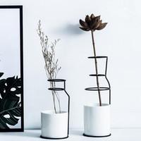북유럽 장식 홈 아트 디자인의 도자기 도자기 꽃병 스칸디 나비아 미니멀 스타일 홈 장식 액세서리 현대