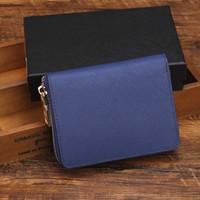 Alta Qualidade Famoso Designer Cartão De Crédito Titular Mulheres Classic Curto Bolsa Single Zipper Carteira Dinheiro Moedas Bag 8 Cores 9180 Longo Negócio