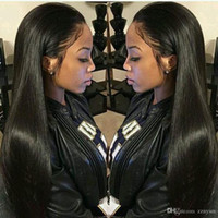 Straight Front Hair Wigs Free Part Brazilian Remy Hair Wig 2...