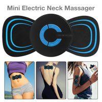 Tragbare Ems Mini Electric AnsatzMassager Cervical Massage Vertebra Stimulator Muskel Erleichterung Schmerz Aufkleber Physiotherapie Instrument