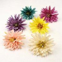 7cm di alta qualità decorazioni rayon crisantemo casa di nozze fai da te regalo vaso corona vero tocco 300pcs sacco GB734 casella clip clip del fiore /