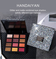 DHL free New HANDAIYAN Glitter e ombretto combinato opaco soddisfano diversi tipi di trucco disponibili