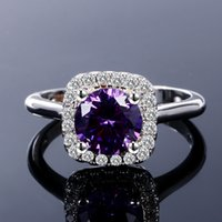 New Trendy Hot Sale Wedding Rings Created Amethyst Ring For ...